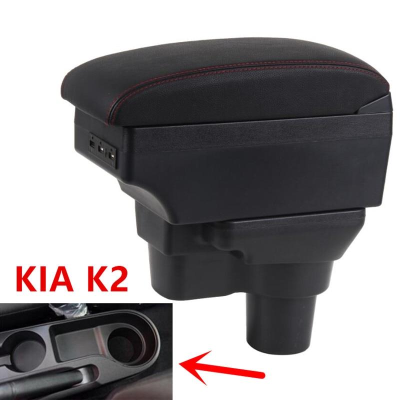 Para 2017 kia rio 4 rio x-line caixa de apoio de braço loja central conteúdo caixa suporte de copo cinzeiro interior do carro-estilo acessórios
