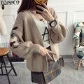 Las mujeres Chaqueta de Punto 2017 Otoño Nueva Moda de Punto Bordado Cardigans Alta Calidad Tire Femme Sweter Mujer SZQ148