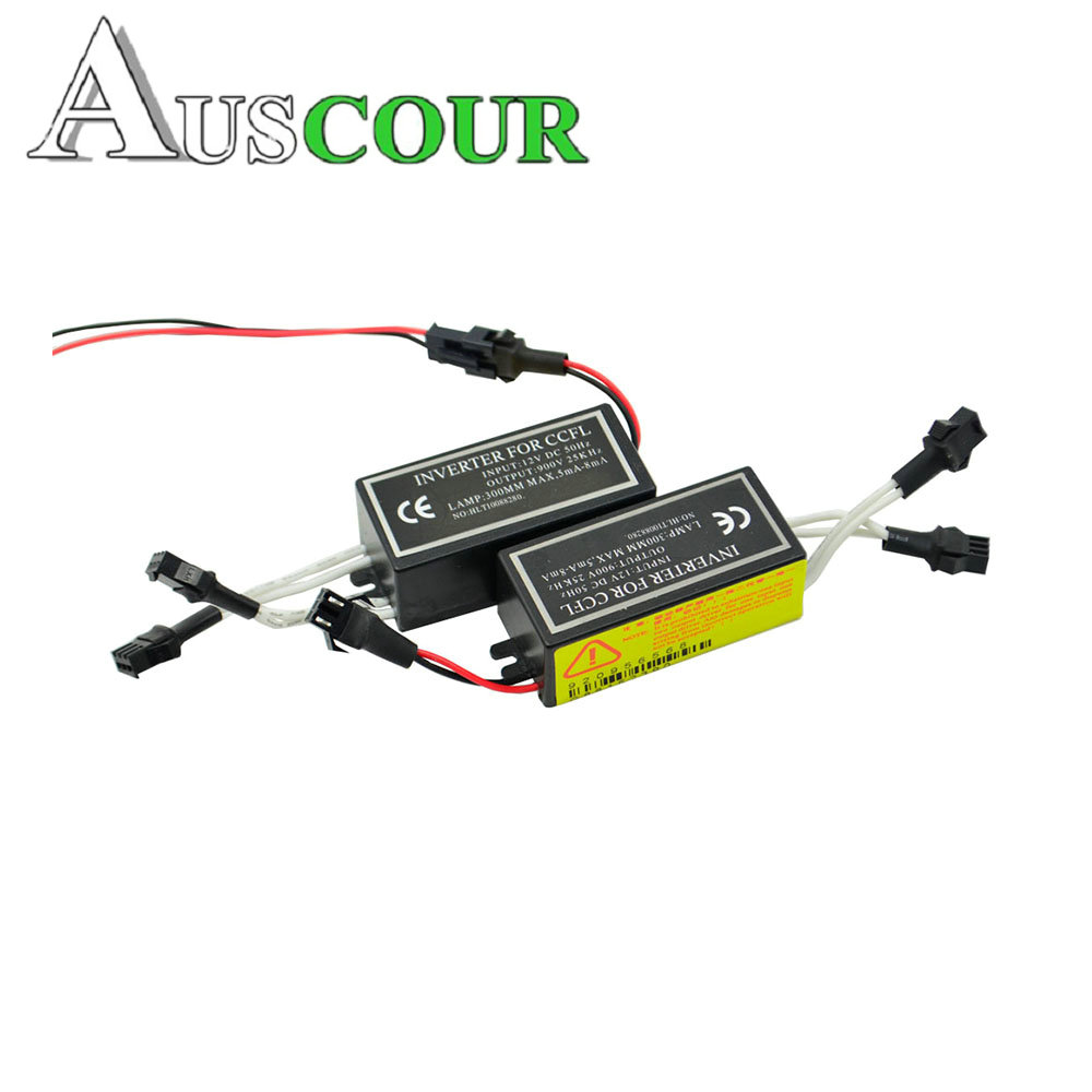 2pcs CCFL driver inverter ignition power blocks for ccfl angel eyes E46 E39 E53 drl driver projector lens car styling Modify