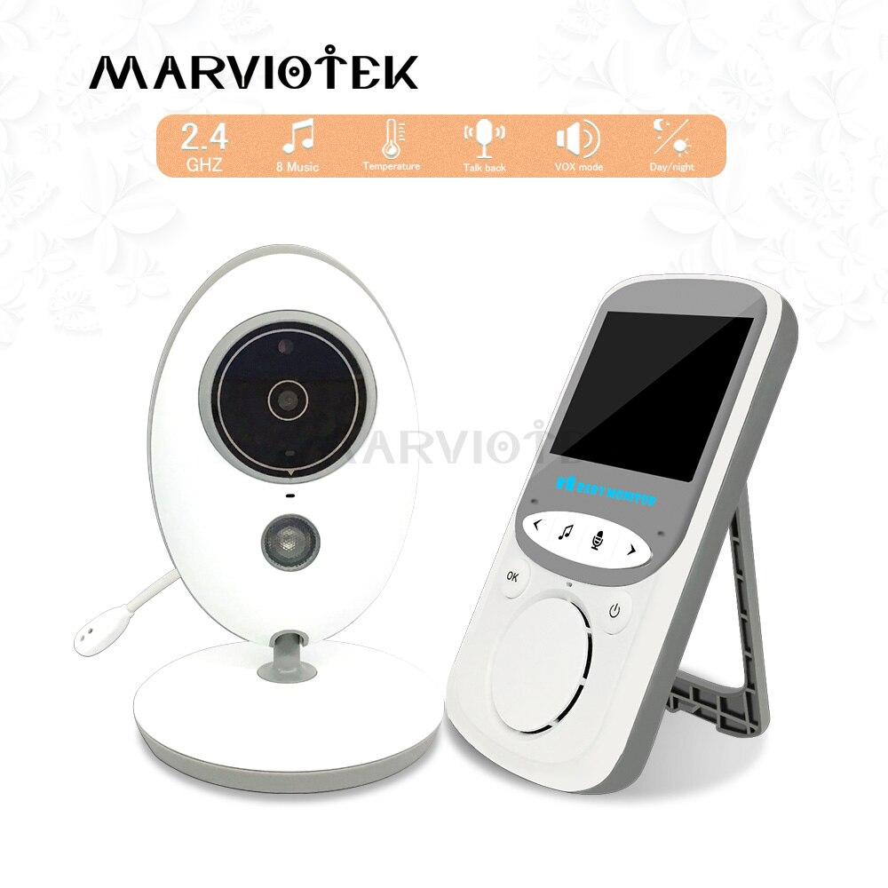 VB605 Wireless LCD Audio Video Baby Monitor Radio Nanny Music Intercom IR 24h Portable Baby Camera
