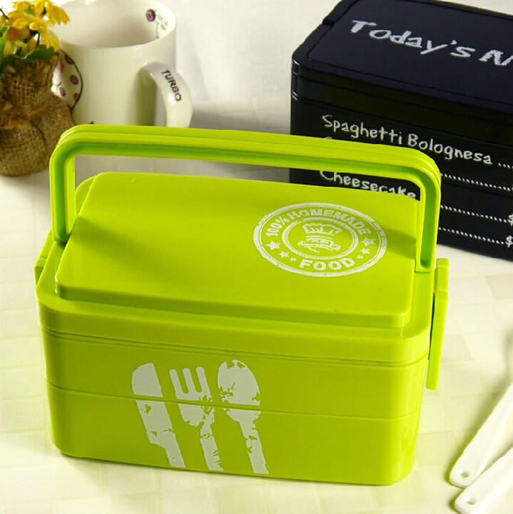 cute 3tier lunch boxs bento box microwavable lunchbox set office school bento box in dinnerware. Black Bedroom Furniture Sets. Home Design Ideas