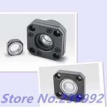Sfu1204 suporte ballscrew 1 pces fk10 e 1 pces ff10 bola parafuso 12mm 1204 ballscrew final suporte para peças de impressora 3d peças cnc