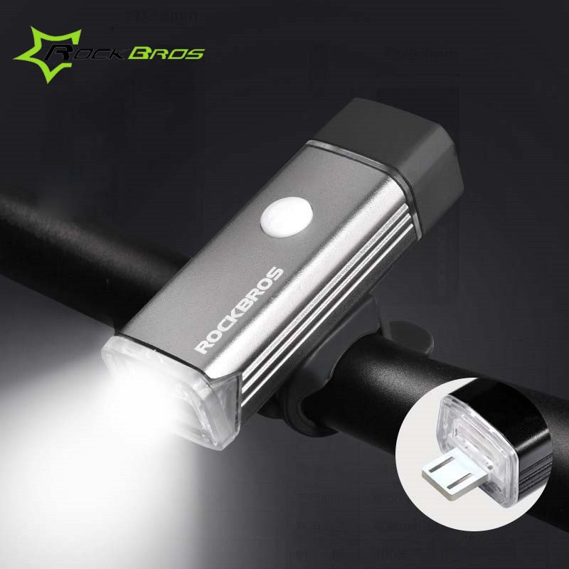 RockBros 400Lumens Waterproof Bicycle Head Front Light USB Rechargeable LED