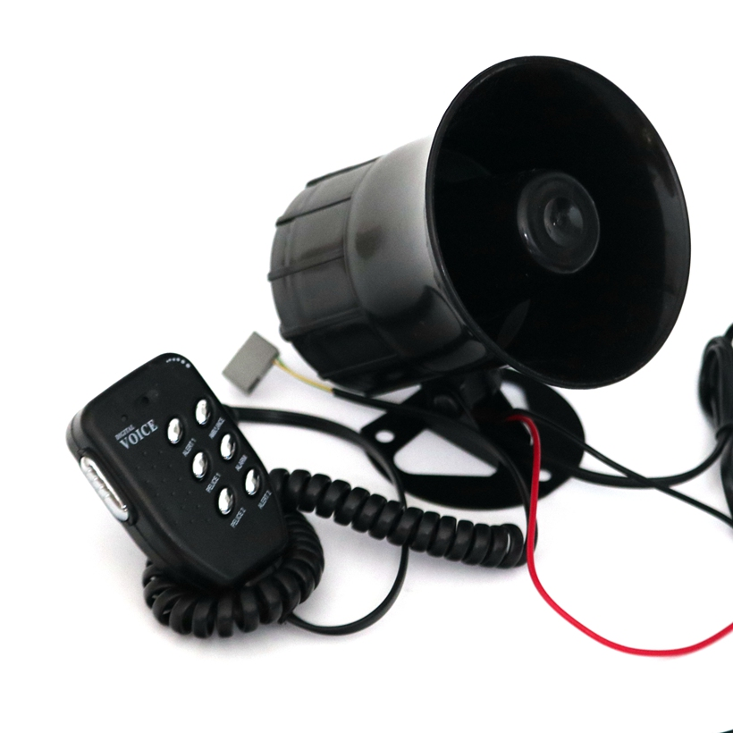 Motorcycle Car Auto Loud Air Horn 125dB Siren Sound Speaker Megaphone Alarm Van Truck Boat 50w 12v Six-tone Modification Parts vodool 12v 125db car motorcycle truck horn compact electric pump air loud horn high quality for motorcycle car truck