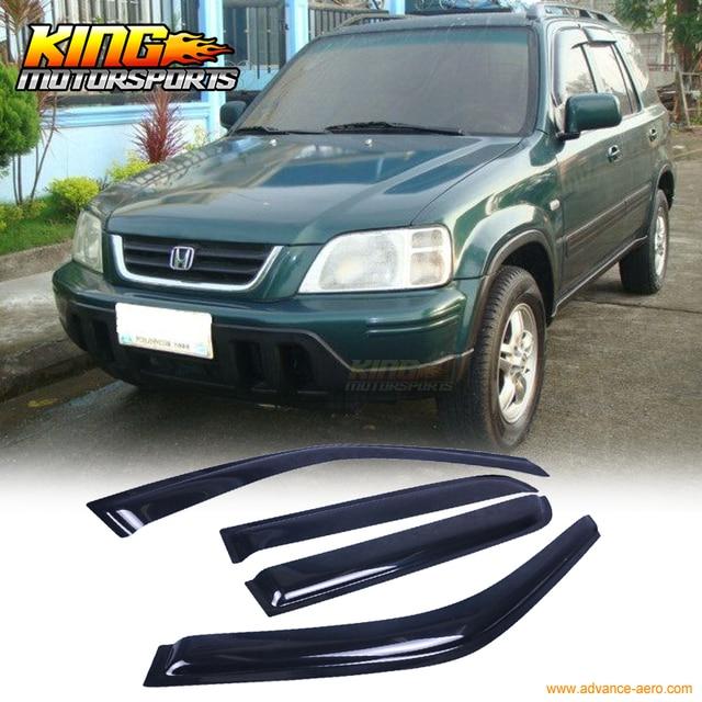 Для 98 99 00-01 Honda CRV CR-V RD SE LX EX 4Dr Окно Козырек Темный Дым 4 ШТ. 1998
