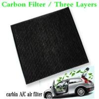 Para 2015-2018 Mitsubishi Triton 2.4L L4 de carbón activo para coche cabina filtro de aire fresco aire acondicionado Auto A/C/filtro de aire