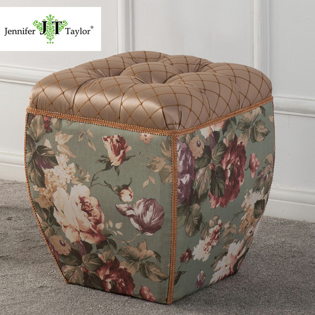 Superieur Jennifer Taylor Home, Ottoman, Multicolored/Brown, Hand Tufted Decorative  Trim And Embellishments