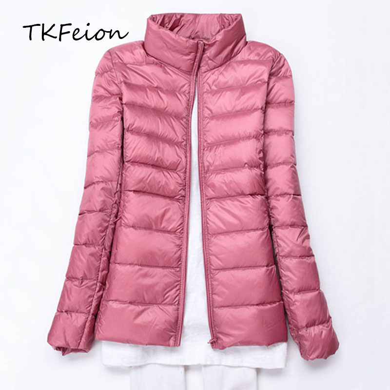 Women Jacket Autumn Winter Spring 2018 Lady Warm Hooded Coat 90% Duck Down Ultra-thin Female Slim Jacket Female Plus 5XL 6XL 7XL