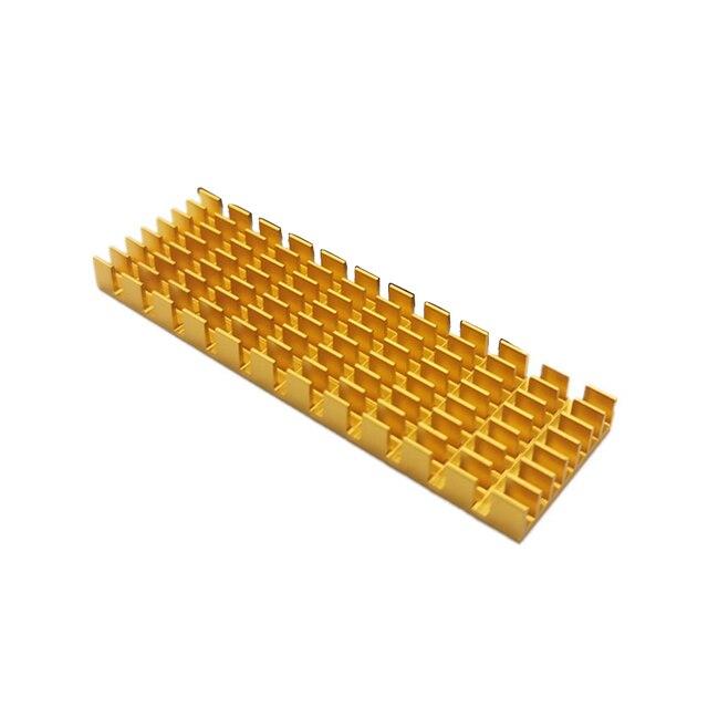Aluminium Universal Kühlkörper SSD Einfach Installieren Kühler Festplatte Ultra Dünne Mini Computer Thermische Leitfähigen Für M.2