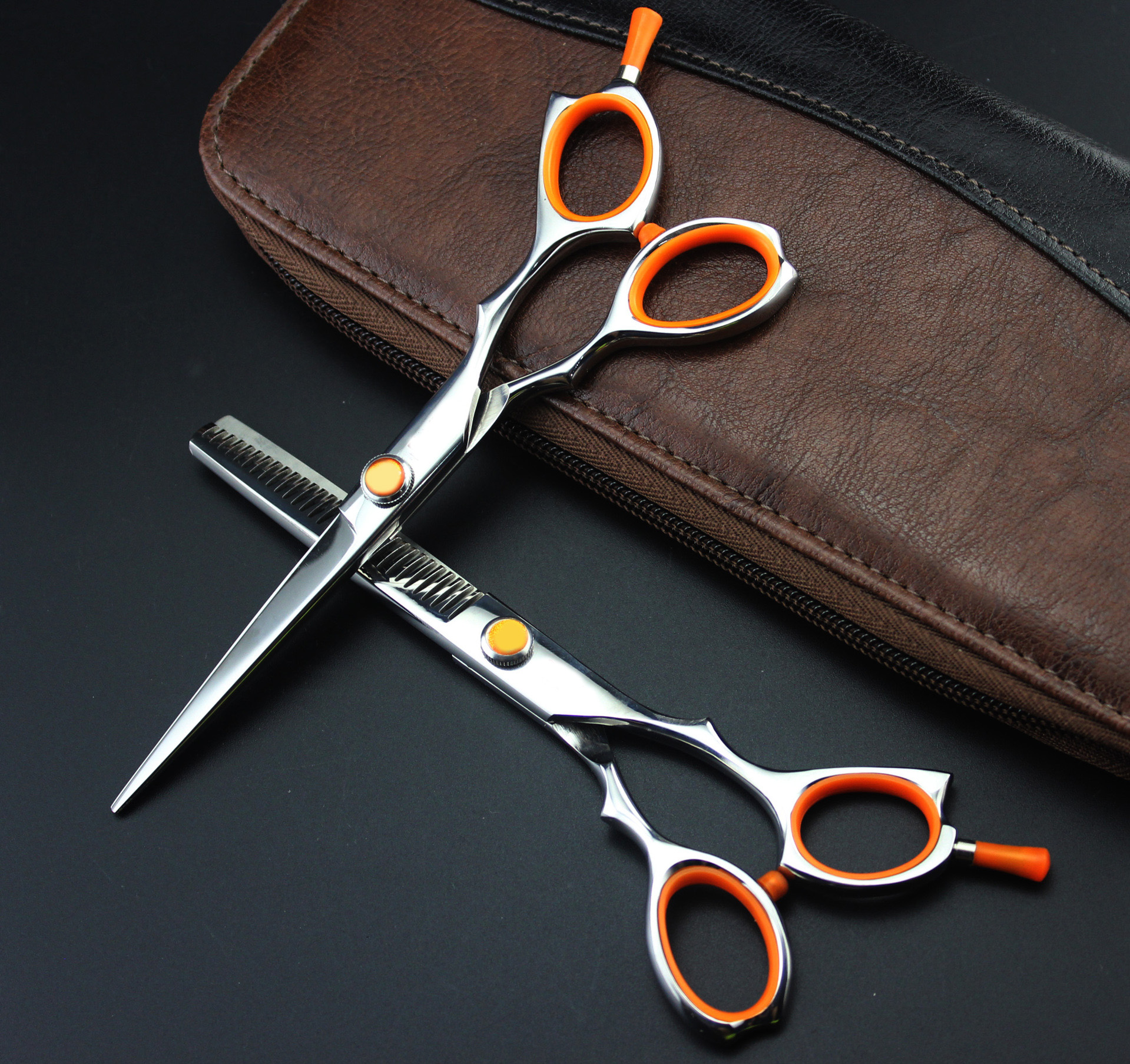 6INCH barnd Hairdressing Scissors Hair Cutting and Thinning Scissors Barber Shears sharp quality scissors barber tools