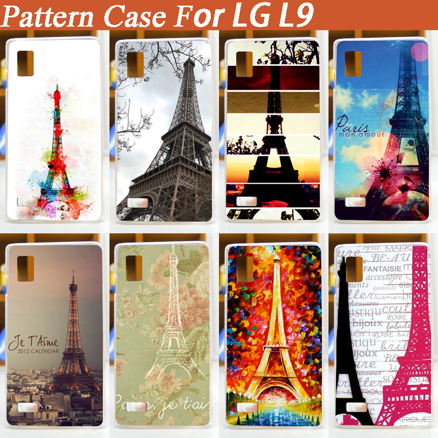 2015 New Hot DIY 9 Styles Painted Print Hard Back Cover Mobile Phone Cases Shell Diy Case For LG L9 P760 P765