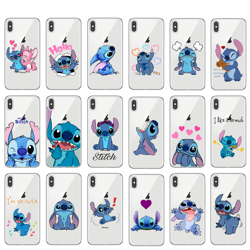 Phone Case For IPhone 11 Pro XS Max Cartoon Stitch Cover Soft Silicone Cases For IPhone X XR 8 7 6 6S Plus 5S SE Coque Cover