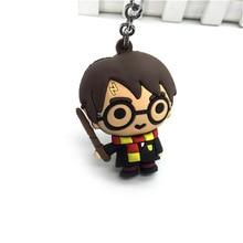 Los Vengadores Harri Potter llavero figura de acción de juguete Mini Cadena clave figura Harri Potter Spiderman modelo de juguete Regalo de Cumpleaños de los niños
