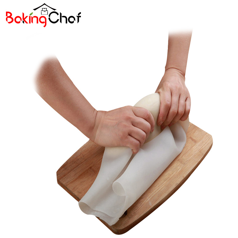 BAKINGCHEF Silicone Pizza Dough Maker Roller Bag Mixer Cookie Dough Baking Pastry Tool Kitchen Dining bar Bakeware Accessories