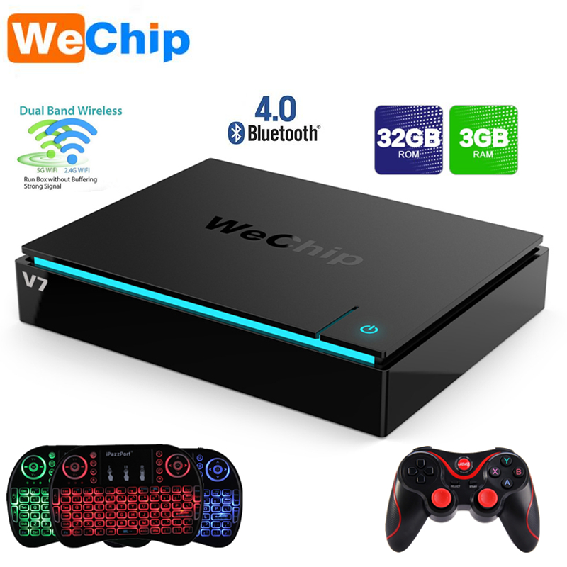 Wechip V7 Android 7.1 TV Box Amlogic S912 3GB RAM 32GB ROM 2.4G/5G Dual Wifi Bluetooth4.0 1000M LAN PK Mecool KI Pro Set Top box