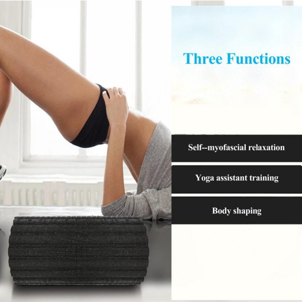 Rouleau de mousse de Massage électrique pour le corps rouleau de Massage vibrant à 4 vitesses rouleau de gymnastique de Yoga pour l'exercice
