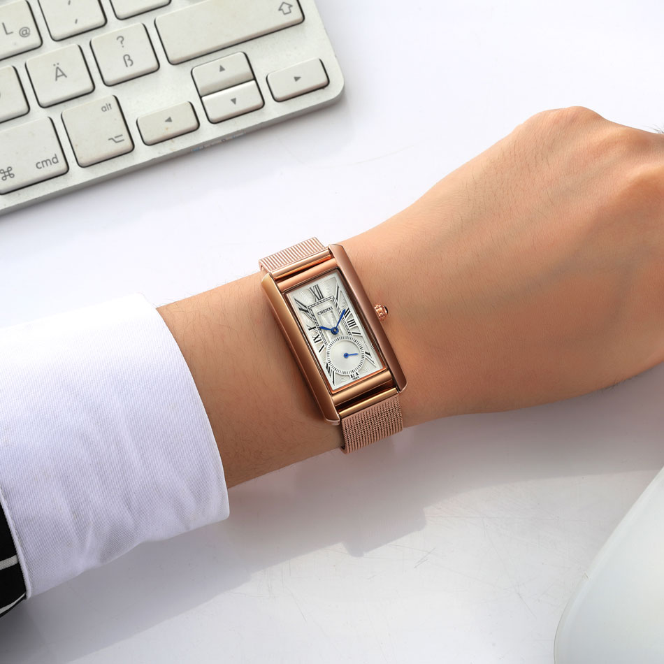 CHENXI 2018 Rose Gold Quartz Watch Women Watches Ladies Luxury Brand Wristwatch For Female Clock Montre Femme Relogio Feminino luxury brand women diamond quartz watch ladies female dress wristwatch rotatable dial watche s montre femme relojes mujer