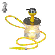 SY 1set Nieuwe Collectie Acrylic Hookah Shisha Water pip Complete Set  Colorful Remote Control Lights