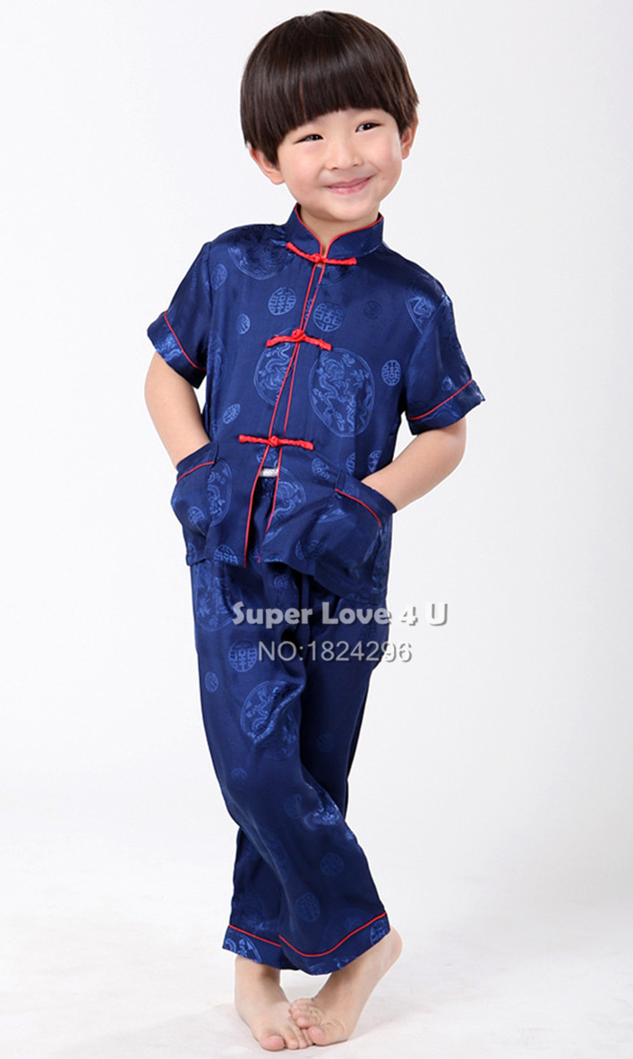 kids children summer faux silk kung fu clothes clothing. Black Bedroom Furniture Sets. Home Design Ideas