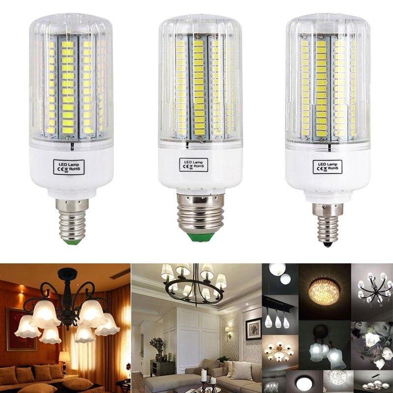 E27 E14 E12 светодиодный Кукуруза лампы переменного тока 110 В/220 В <font><b>5736</b></font> SMD энергосберегающие лампы украшения дома света -M25