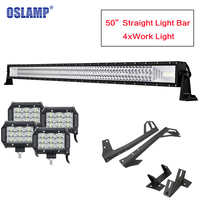 Oslamp 702W Tri Row 50inch Straight Light Bar 4x Work Lights Offroad Driving Head Light for Car SUV 4WD 2WD Truck Combo Led Bar