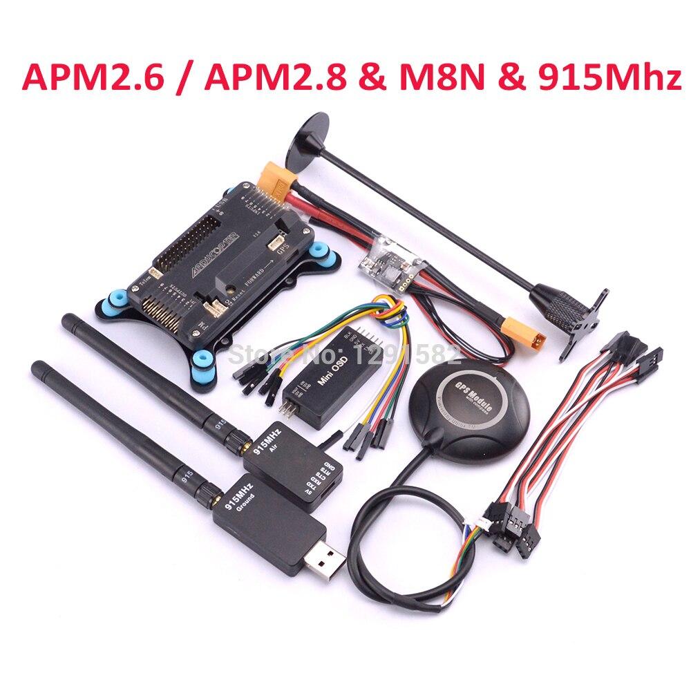 APM2.6/APM2.8 وحدة تحكم في الطيران مجلس M8N GPS 915 Mhz القياس البسيطة OSD الطاقة وحدة GPS حامل حامل ل F450 FPV quadcopter-في قطع غيار وملحقات من الألعاب والهوايات على  مجموعة 1