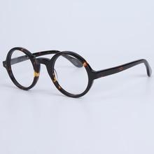 Okulary optyczne ramka mężczyźni kobiety z etui i pudełkiem Vintage Round Johnny Depp okulary komputerowe ramka do okularów męskie przezroczyste soczewki