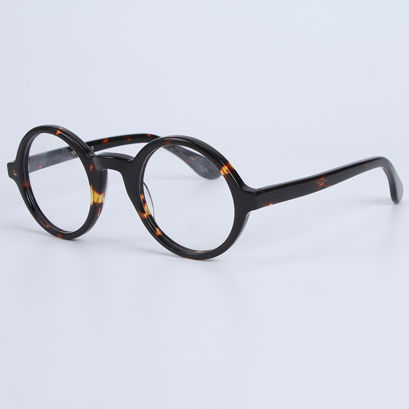 Optical Eyeglasses Frame Men Women With Case&Box Vintage Round Johnny Depp Computer Glasses Spectacle Frame Male Clear Lens-in Men's Eyewear Frames from Apparel Accessories