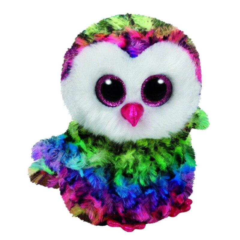 6 15 см Beanie Боос оригинальный большой Средства ухода для век плюшевые игрушки куклы детского дня рождения Оуэн-Многоцветный Сова reg плюшевые...