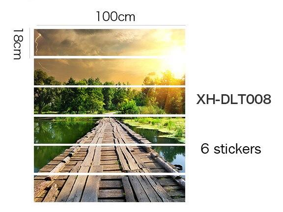 Домашние лестницы декорации самоклеющиеся наклейки, близко к природе, пункт № XH-DLT - Цвет: XH-DLT008