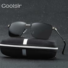 2017 Hot Vintage Marco Cuadrado de Metal Polarized Aviator gafas de Sol de Moda Hombre Diseñador de la Marca de Conducción gafas gafas de sol hombre