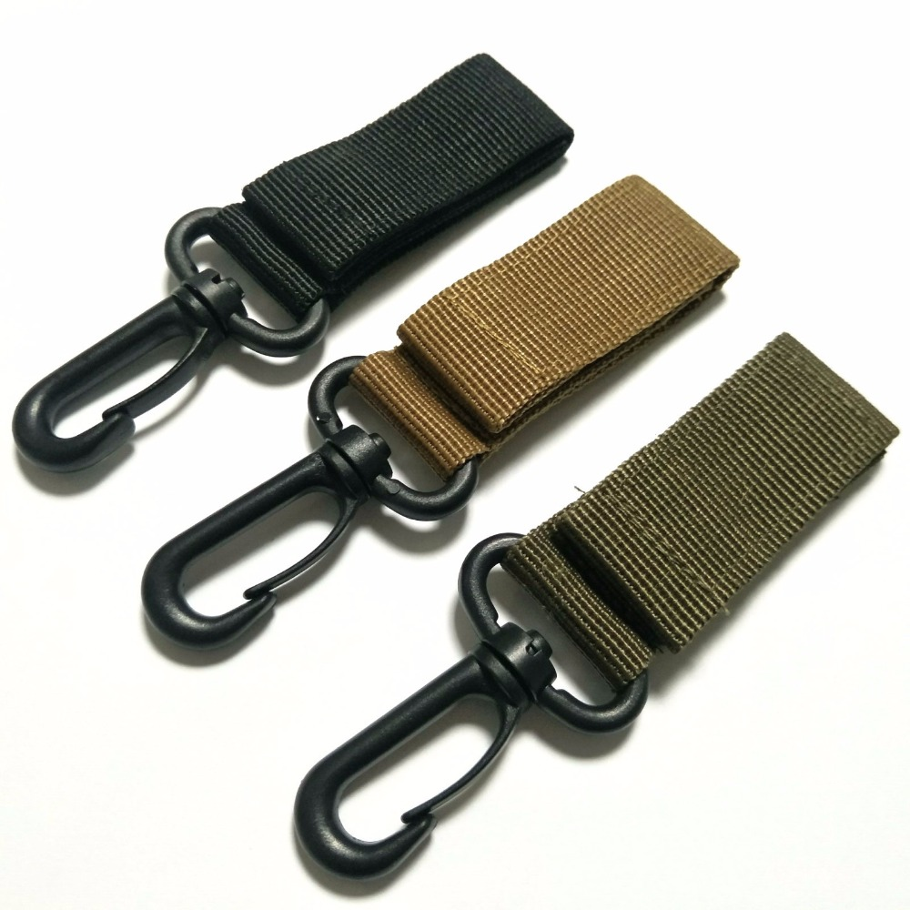 Outdoor Tactics Nylon Ribbon Buckle Hanging Military Fans Multi - Function Key Chain Hook Tactical Accessories Belt  Carabiners