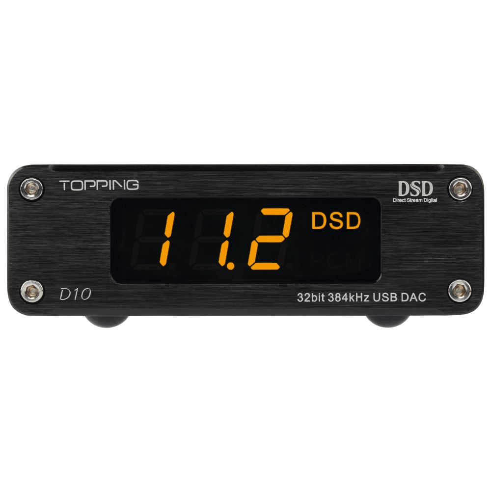 TOPPING D10 USB MINI DAC audio amplifier Decoder with Line out and Coaxial Optical out Support DSD256(Native) PCM32bit384kHz