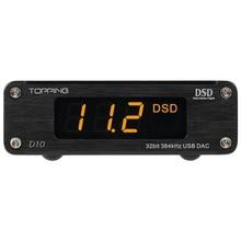 TOPPING D10 USB MINI DAC audio versterker Decoder met Line out en Coaxiale Optische out Ondersteuning DSD256 (Native) PCM32bit384kHz