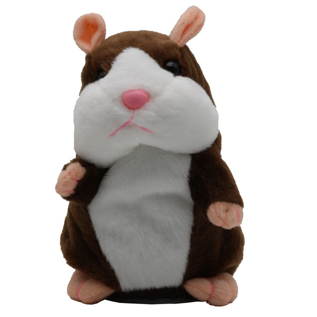 Talking Hamster Shaped Plush Toy