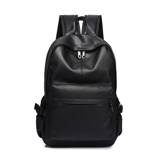 Fashion Men s Leather Backpack Business Backpacks School bag for teenager  Travel Laptop shoulder bags mochila hombre Rucksack 85.4 ₪. Black 2 3cdbd7ad3dfe