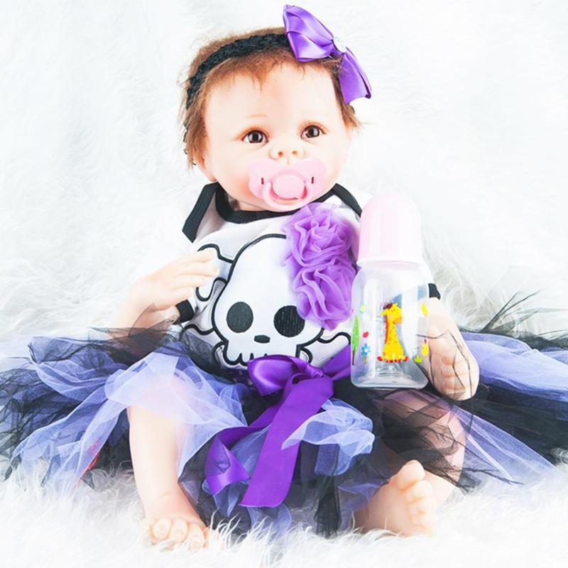 22 Inch 55 CM Doll Reborn Soft Vinyl Silicone Reborn Babies For Girls Handmade BeBe Reborn NPK doll Kids Birthday Gifts Toy