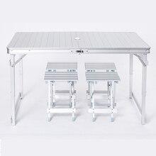 Открытый досуг алюминиевая складная Таблица и стулья простой стол для пикника стойло для отдыха на природе Портативный стол
