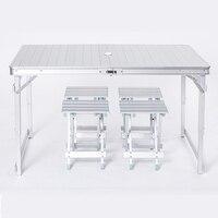 Для отдыха на открытом воздухе алюминиевый складной стол и стулья простой стол для пикника стойло Кемпинг активности портативный стол
