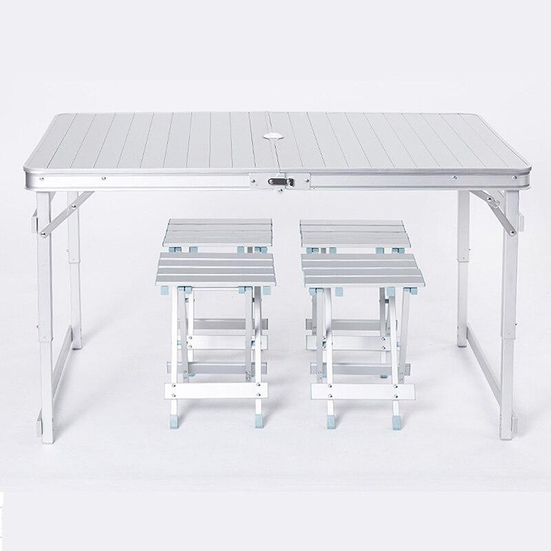 Table et chaises pliantes en aluminium pour loisirs de plein air table de pique-nique simple