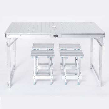 Outdoor leisure aluminum folding table and chairs simple picnic table stall camping activity portable table giantex portable outdoor furniture set table 4 chairs set garden camp beach picnic folding table set with carrying bag op3381re
