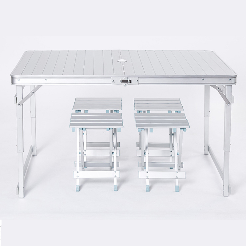 Table et chaises pliantes en aluminium pour loisirs de plein air table de pique-nique simpleTable et chaises pliantes en aluminium pour loisirs de plein air table de pique-nique simple