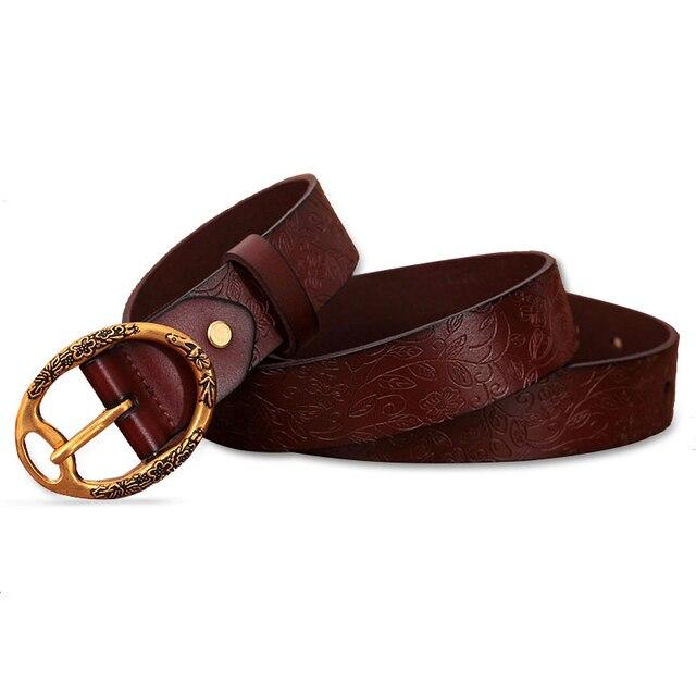 2016 Nuevo deisgn rojo correa de las mujeres retro cinturones para las mujeres femme ceinture cinturones de diseño con la impresión de alta calidad