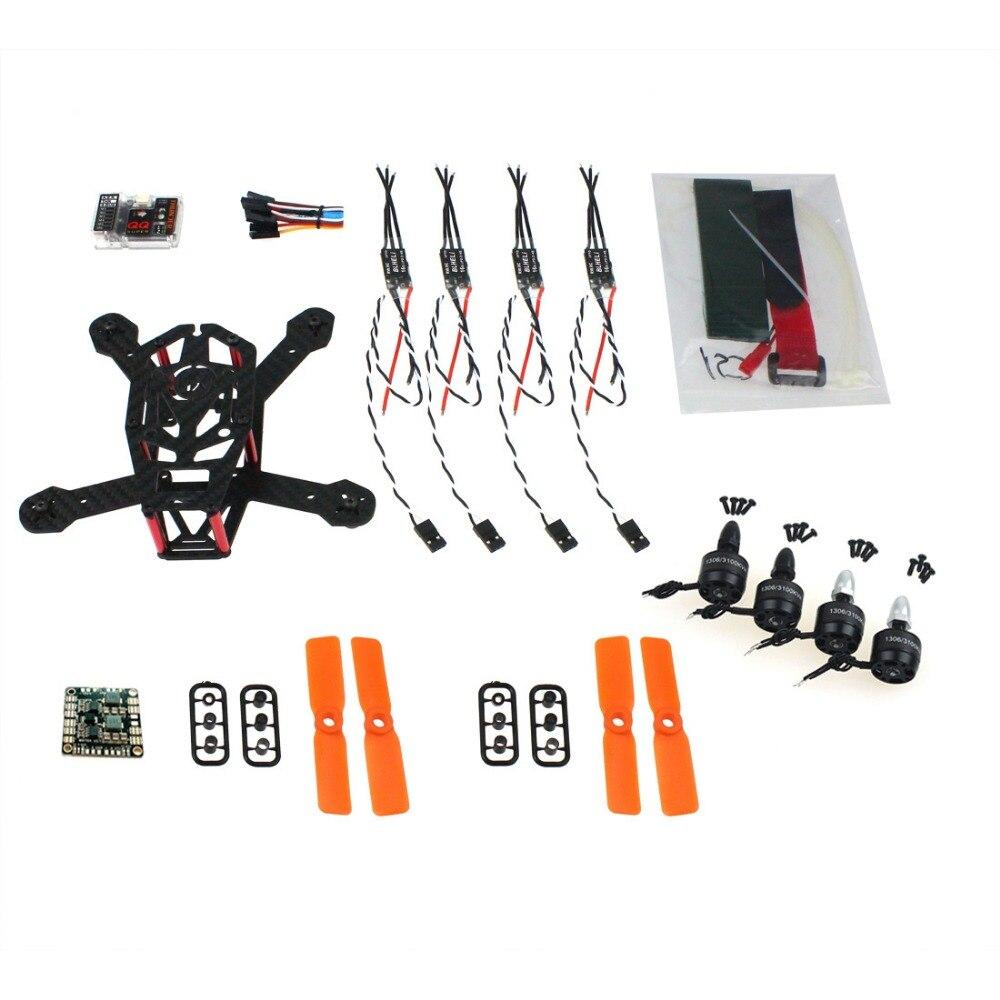 F16895-B DIY FPV Drone QQ 150mm Mini RC Quadopter H150 Carbon Fiber Frame 3100KV CW/CCW Motor BLHeli OPTO 16A ESC 3030 Props hot x210 214mm 4mm carbon fiber camera dron fpv quadcopter f4 revo flight control 4in mini 20a blheli esc dx2205 cw ccw w matek