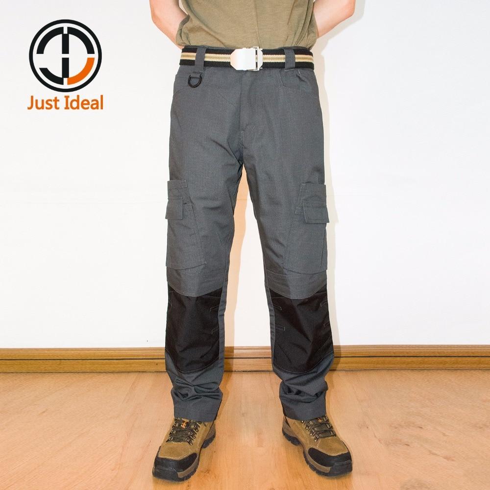 2019 Pantallona me dizajn të ri Rip-Stop Pantallona taktike Ushtarake Mens Pantallona ngarkese Moda Pantallona të rastësishme Oxford Waterproof ID812