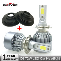 PANYUE LED Super Bright Auto H4 LED Headlight H7 H4 Car Light Low Beam COB Chip