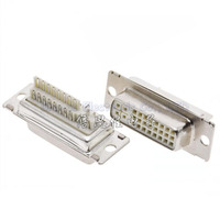 DVI24 5 Female Socket Welded Wire Type 180 Degree 24 5P Three Rows DVI Connector
