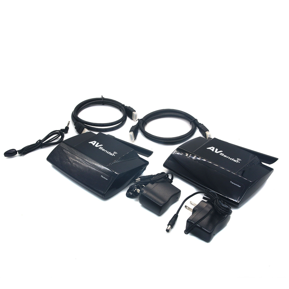 Prix pour PAT-580 5.8 GHz Sans Fil Stéréo Émetteur Récepteur AV Audio Vidéo Emetteur Récepteur 300 M Adaptateur Avec HDMI IR À Distance Étendre