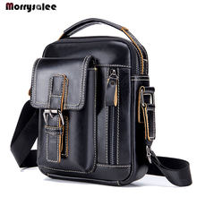Men Bag Leather Head Layer Cowhide Men Shoulder Bag 8 inch Ipadmini Leisure Leather Men's Bags(China)