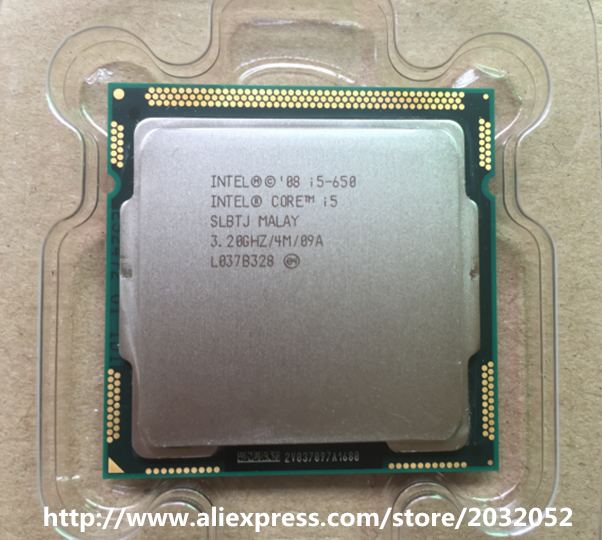 US $32 0 |Intel Core i5 650 Processor i5 650 3 2 GHz 4MB Cache Socket  LGA1156 32nm 73W Desktop CPU (LGA 775 mainboard no need adapter)-in CPUs  from